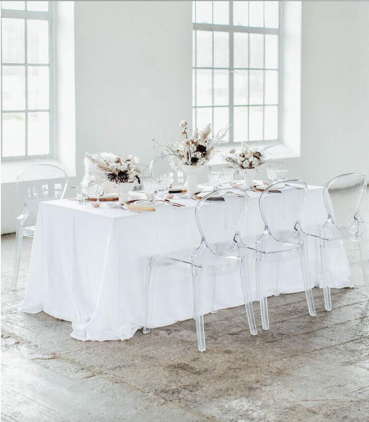 mesa blanca